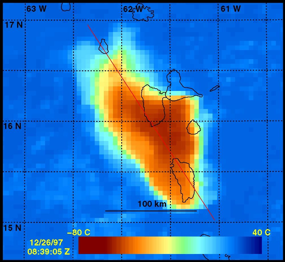 12 26 97 Goes Observations Of Soufriere Hills Volcano
